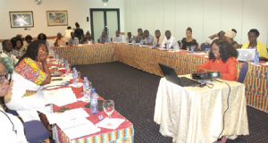 Abantu and CSOs in a small round table discussion