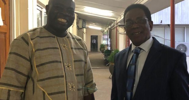 Dr. Dokurugu with Professor Kwesi Yankah, Minister of State in charge of Tertiary Education.