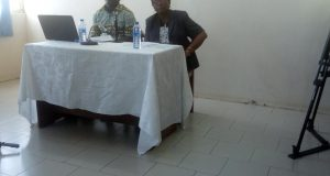 Mr Adolf Awuku Bekoe and Hamid Harisson
