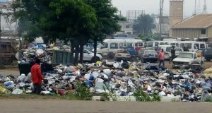 This picture was taken along the railway line at Avenor in Accra