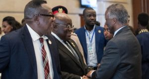 President Nana Addo with former South African president Thabo Mbeki