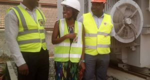 Lawrencia Azumah Abugre(M) advocating for safety at work places