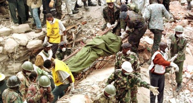 More than 200 people died in the simultaneous attacks on the US embassies in Kenya, shown here, and Tanzania