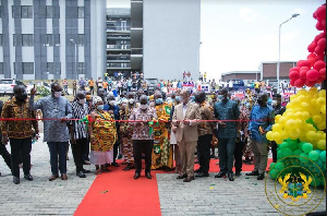President Akufo-Addo commissioned the UESD in Somanya